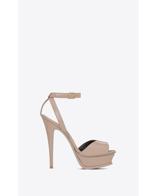 ccacd21326a0 Saint Laurent - Multicolor Tribute Sandal In Patent Leather - Lyst ...