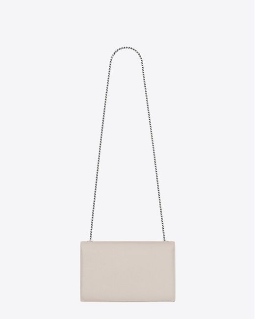 e6483184192f ... Saint Laurent - Classic Medium Kate Satchel In Icy White Grain De Poudre  Textured Leather ...