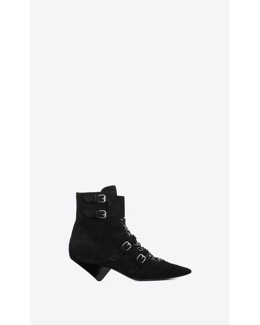 Saint Laurent - Black Blaze 45 Ankle Boots - Lyst
