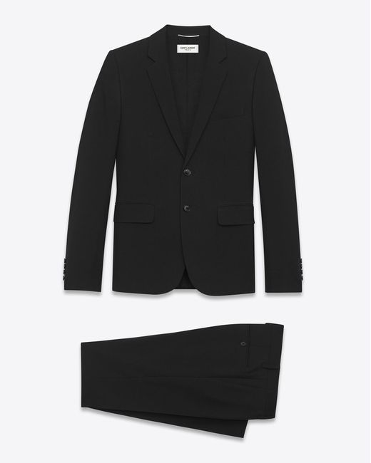 Saint Laurent | Classic Suit In Black Gabardine Virgin Wool for Men | Lyst