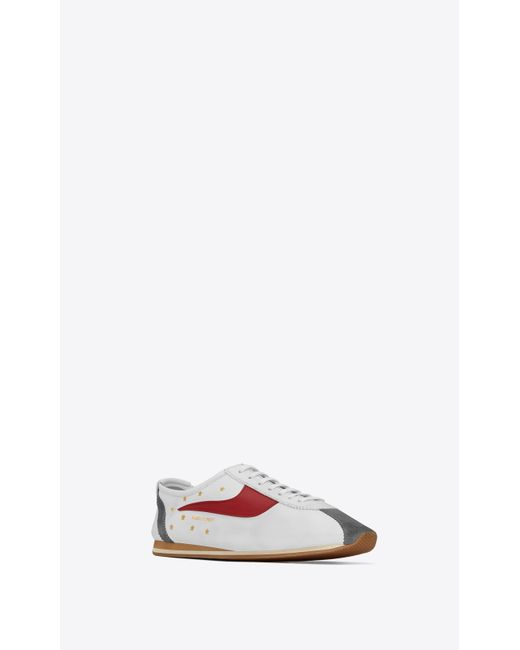 e265c40cee9f8 Saint Laurent Jay Sneakers In Leather in White for Men - Save 25% - Lyst