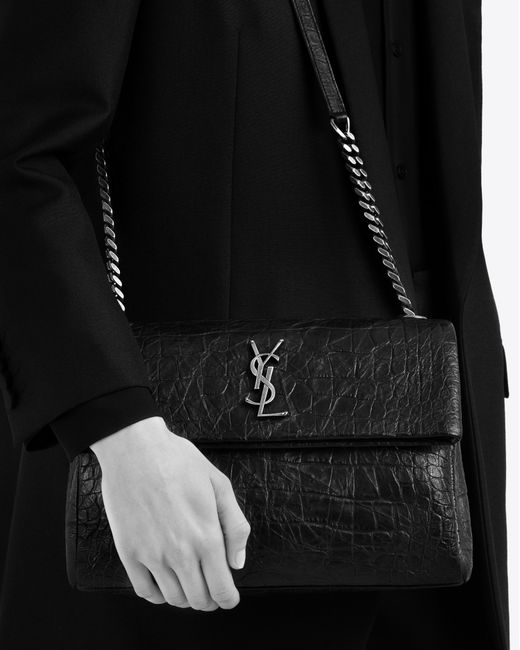 Saint Laurent Medium West Hollywood Monogram Bag In Dark