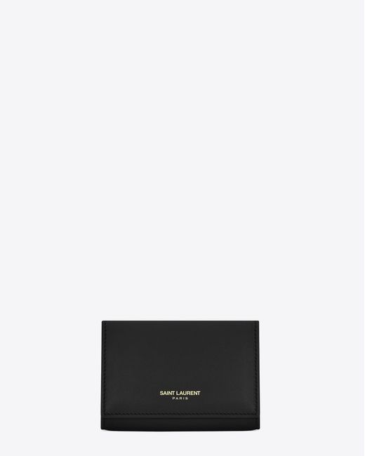 Saint Laurent - Black Key Pouch In Smooth Leather - Lyst