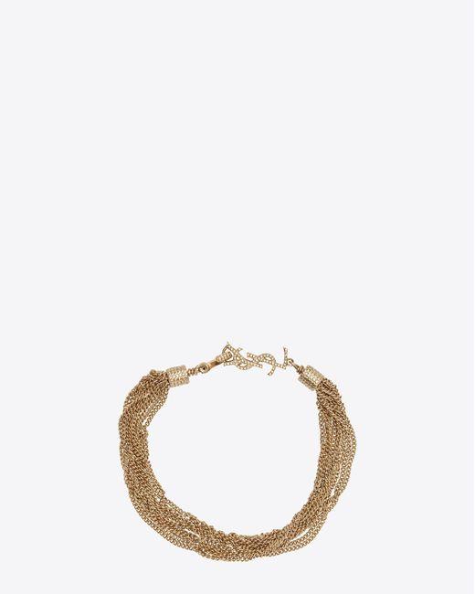 Saint Laurent - Metallic Bracelets - Lyst