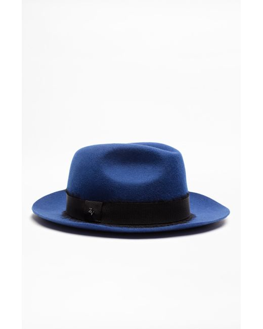 Zadig & Voltaire - Blue Alabama Ribbon Hat - Lyst
