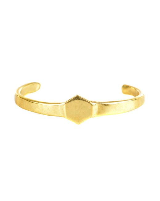 Odette New York | Metallic Brass Signet Cuff | Lyst