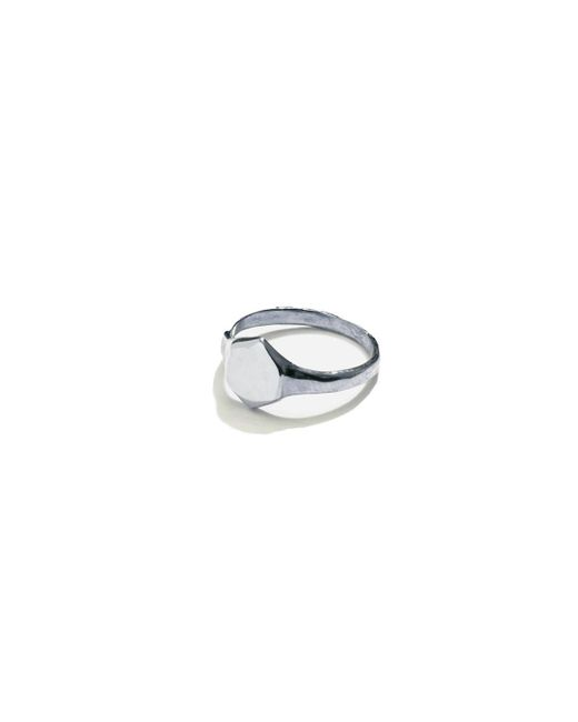 Odette New York | Metallic Silver Signet Ring | Lyst