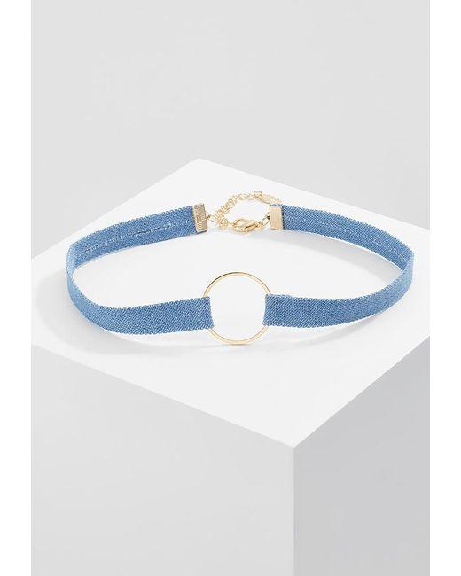 Orelia | Blue Open Circle Necklace | Lyst