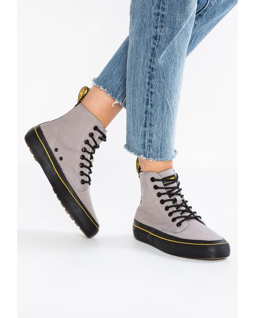 Dr. Martens   Gray Monet 8 Eye 10 Oz Lace-up Boots   Lyst