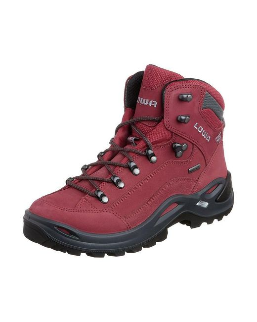 Lowa | Red Renegade Gtx Mid Walking Boots for Men | Lyst