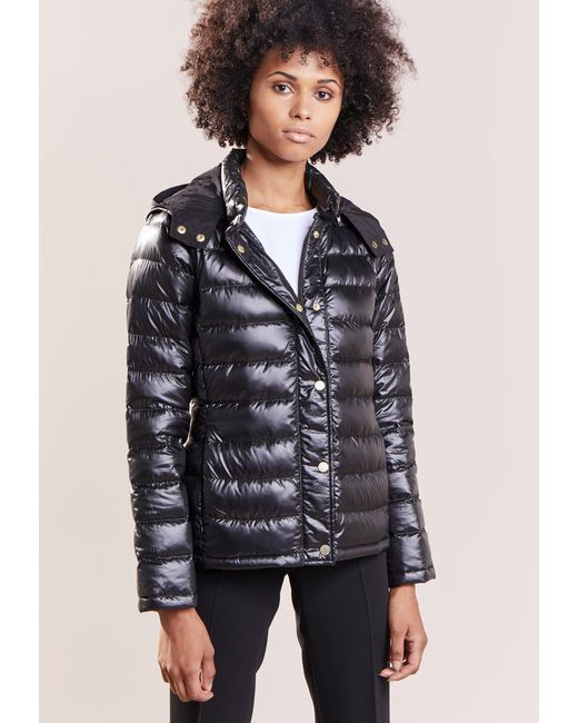 MAX&Co. | Black Damiere Down Jacket | Lyst