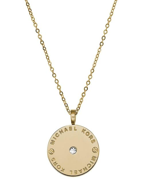 Michael Kors | Metallic Logo Necklace | Lyst