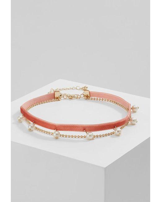 Miss Selfridge | Pink Drop Necklace | Lyst