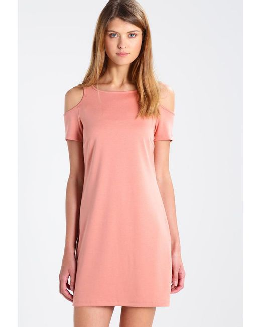 Vila | Pink Vicoldshoulder Jersey Dress | Lyst