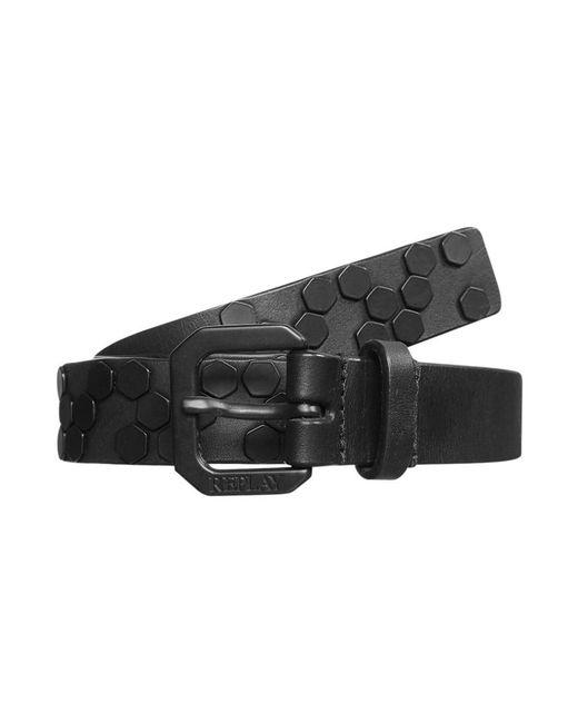 Replay   Black Belt for Men   Lyst