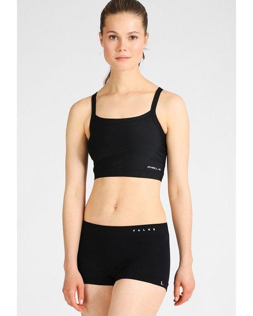 c9d5780f0dd11 Lyst - O neill sportswear Active Reversible Sports Bra in Black