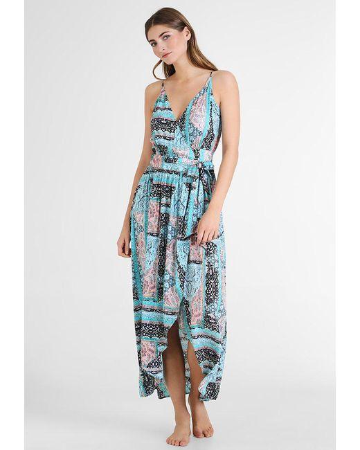 Seafolly | Blue Moroccan Moon Maxi Wrap Dress | Lyst