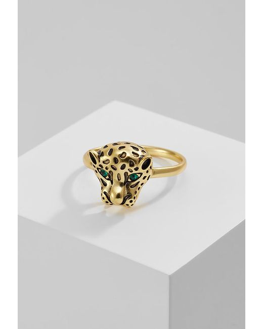 Orelia | Green Pantha Head Ring | Lyst