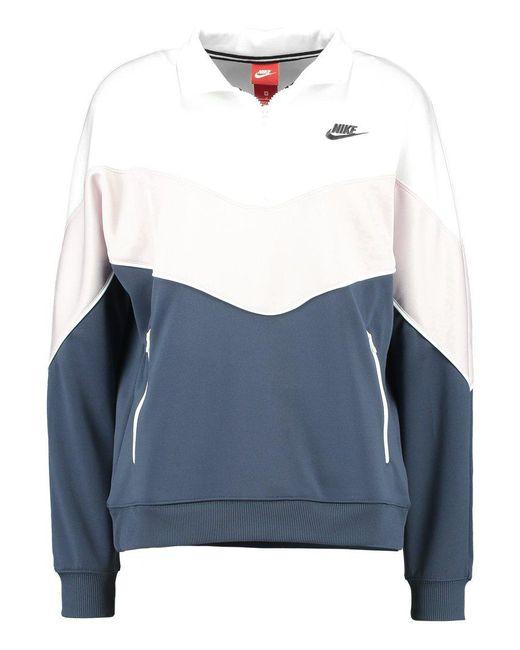 release date: 9cd4d ff369 ... Nike   Blue Solid Sweatshirt   Lyst