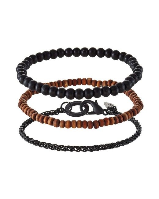 Icon Brand | Black 3 Pack Bracelet for Men | Lyst