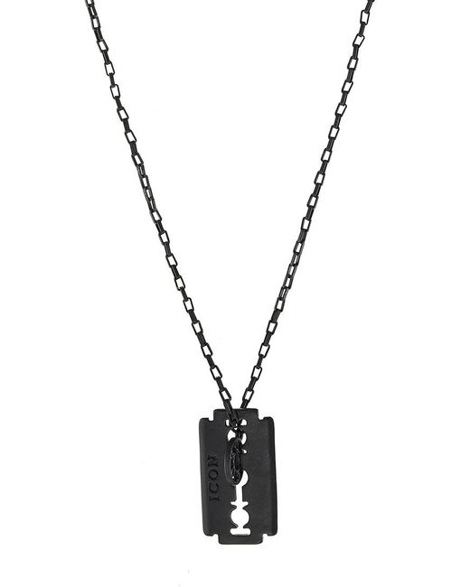 Icon Brand | Black Franklin Necklace for Men | Lyst