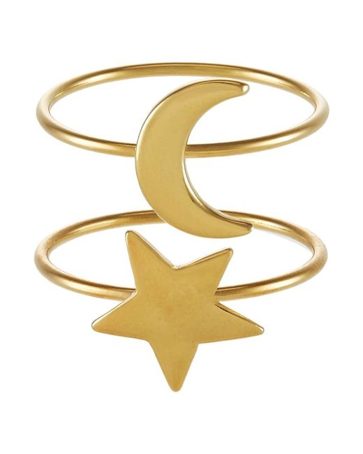 Ivyrevel | Metallic 2 Pack Luna Ring | Lyst