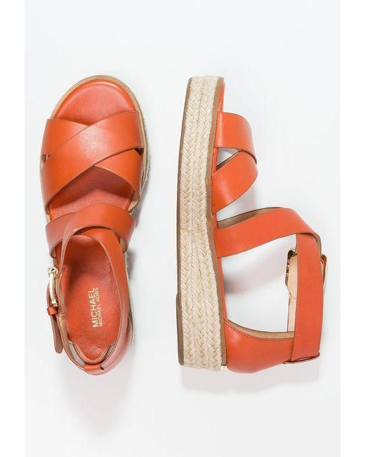 MICHAEL Michael Kors | Orange Darby Platform Sandals | Lyst