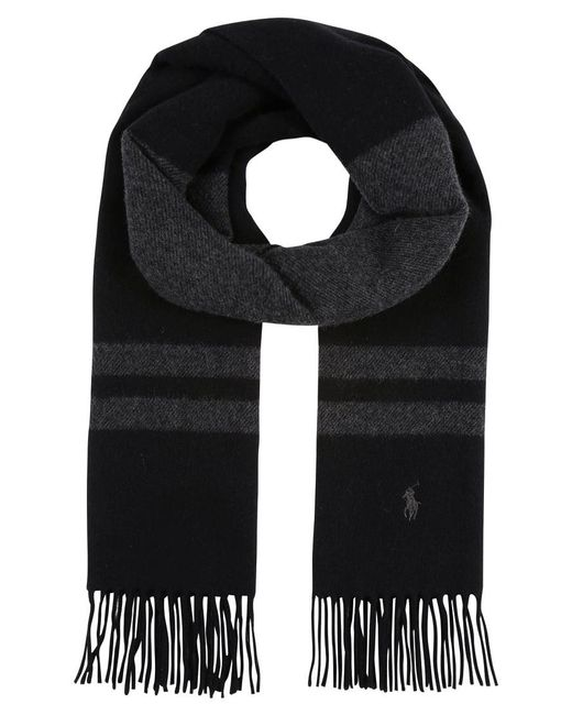 Polo Ralph Lauren | Black Stripe Scarf | Lyst