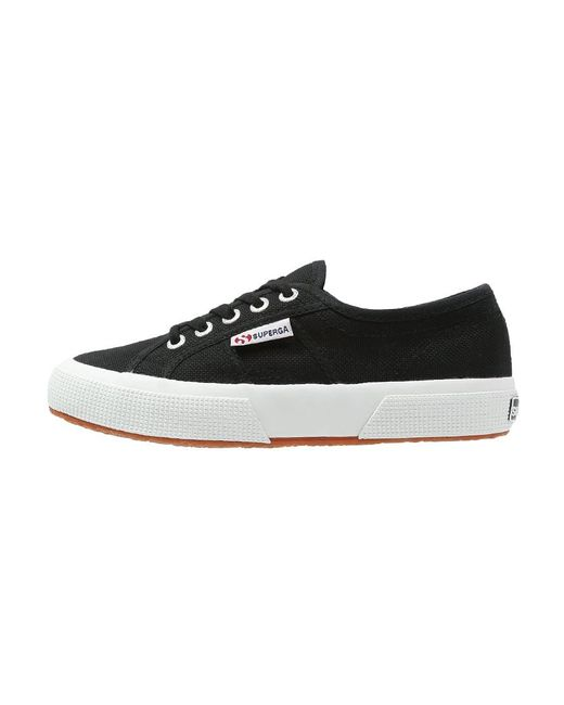 Superga | Black Velvet Lace Up Sneakers | Lyst