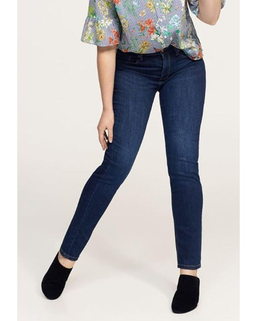 Violeta by Mango | Blue Slim-fit Susan Jeans | Lyst