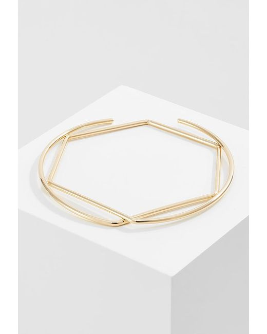 Whistles | Metallic Circle Hexagon Bangle | Lyst