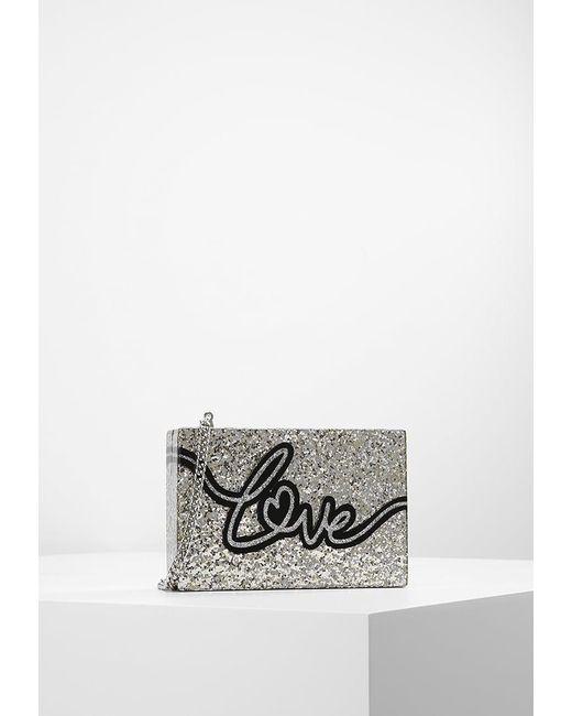 Karl Lagerfeld   Black Love Minaudiere Clutch   Lyst