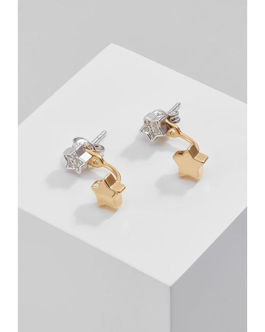 Fossil   Metallic 2 In 1 Earrings   Lyst