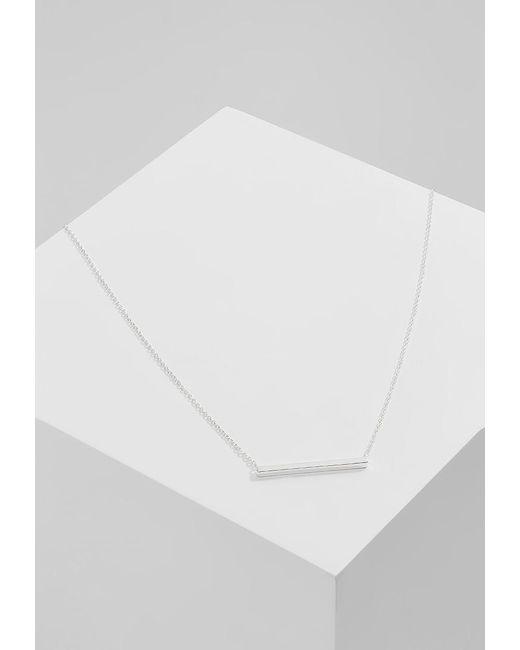 Orelia | Metallic Horizontal Bar Short Necklace | Lyst