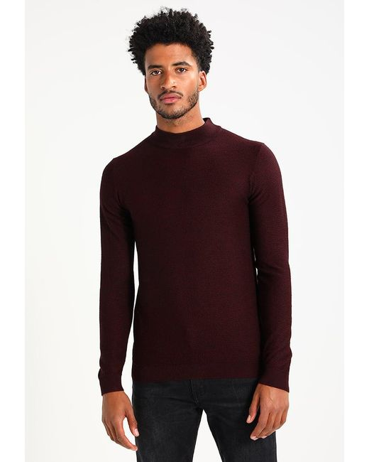 Only & Sons | Brown Onsnewton Plain Roll Neck Jumper for Men | Lyst