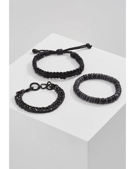 Icon Brand | Black One Two Nine Combo 3 Pack Bracelet for Men | Lyst