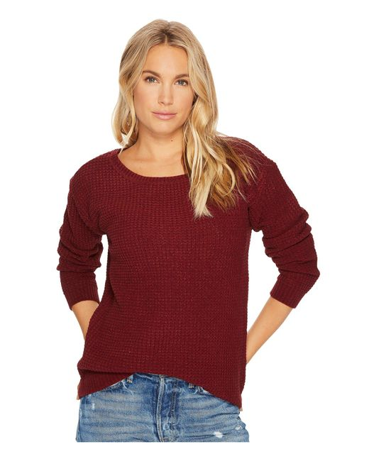 BB Dakota   Red Eugene Waffle Knit Sweater   Lyst