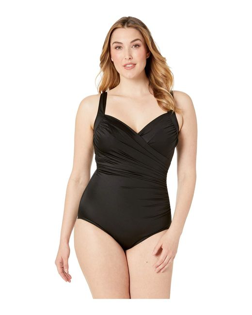 d47ad4ad78e0d Miraclesuit - Plus Size Solid Sanibel One-piece (black) Women s Swimsuits One  Piece ...
