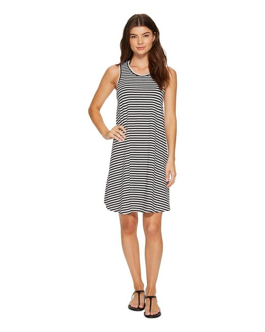 Seafolly - Black Indian Summer Mini Stripe Swing Jersey Dress Cover-up - Lyst