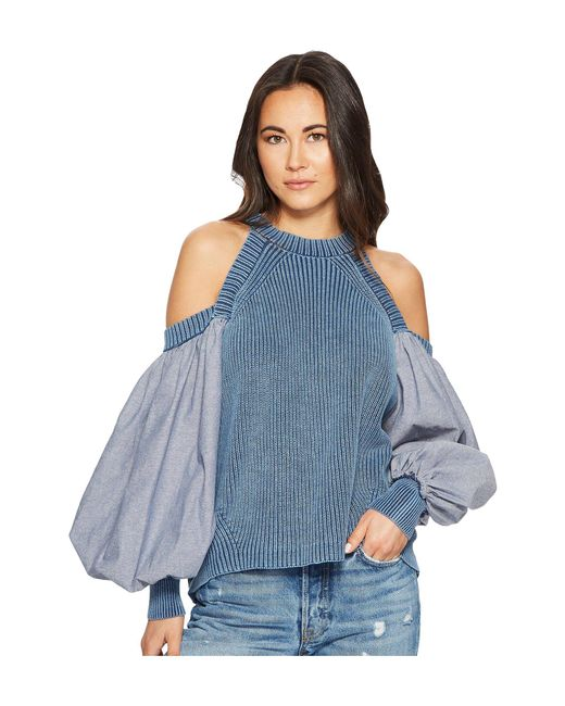 Free People - Blue Catch A Glimpse Top - Lyst
