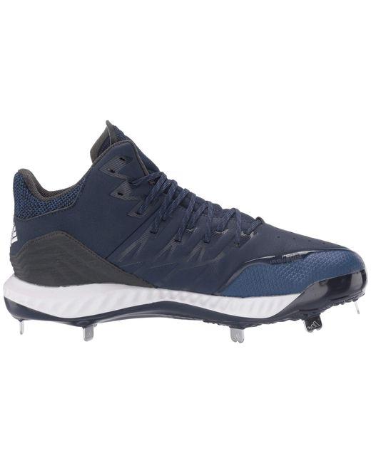 eca113c05f3c6 ... Adidas - Blue Icon Bounce Mid (footwear White grey Three F17 grey Two  ...