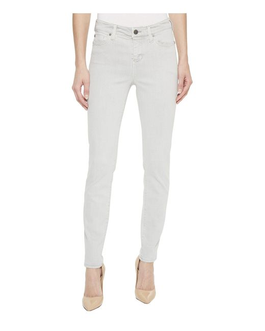Liverpool Jeans Company - Gray Penny Ankle In Slub Stretch Twill In Fossil Grey (fossil Grey) Women's Casual Pants - Lyst