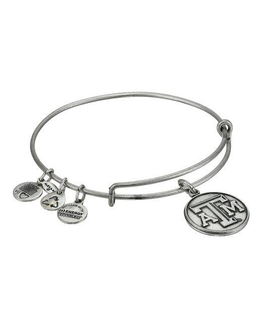 ALEX AND ANI - Metallic Texas A&m University® Logo Charm Bangle - Lyst