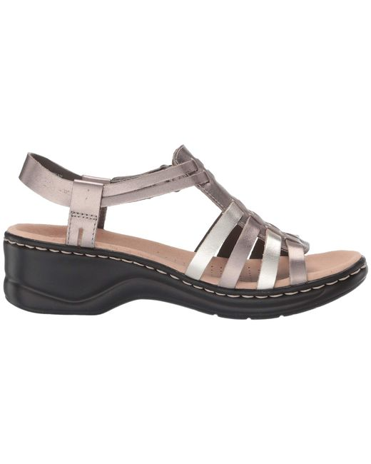16874bf2322 ... Lyst Clarks - Metallic Lexi Bridge (white Leather) Women s Dress Sandals  ...
