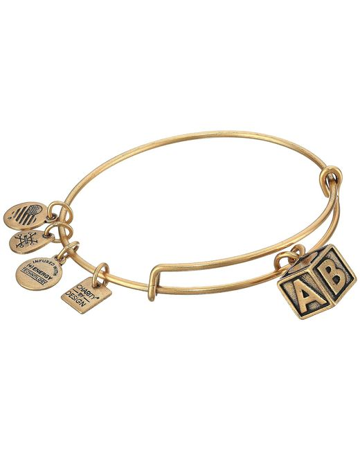 ALEX AND ANI - Metallic Charity By Design - March Of Dime - Baby Block Bangle (rafaelian Gold) Bracelet - Lyst