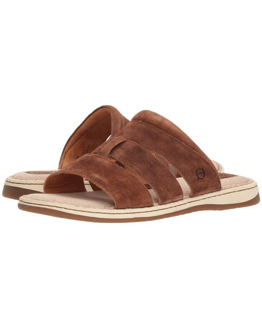Born - Brown Sail (rust Distressed) Men's Sandals for Men - Lyst