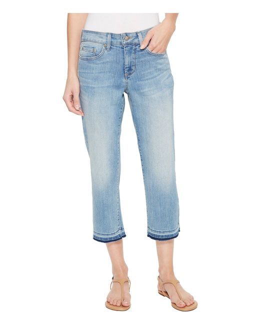 NYDJ - Blue Capris W/ Released Hem In Dreamstate (dreamstate) Women's Jeans - Lyst