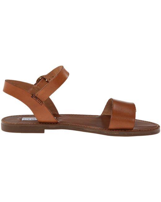 f29f1d2eebc Lyst - Steve Madden Donddi Leather Sandals in Pink - Save 49%