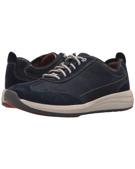 Clarks - Blue Uncoast Lace (navy Nubuck) Men's Lace Up Casual Shoes for Men - Lyst