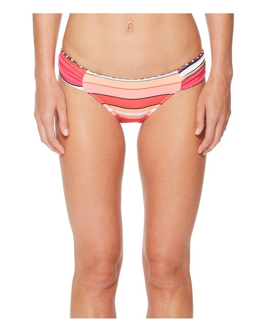 Tommy Bahama - Pink Petals Of Paradise Reversible Side-shirred Hipster Bikini Bottom - Lyst